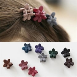 10pcs Kids Mini Flower Hair Claw Clip Pin Little Portable random color 10pcs