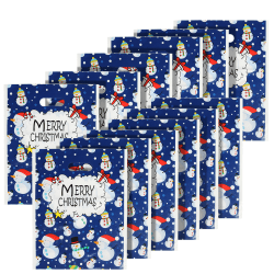 12pcs Christmas HandBags Snowman Deer Pattern Gift Bags as the picture