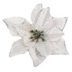 12pcs Christmas Tree Decorative Artificial Glitter Flower Decor C 12pcs