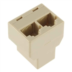 1pc RJ-45 LAN Ethernet Splitter Network Connector Adapter Socket 1pcs