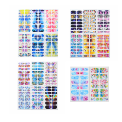 20 Sheets Nail Stickers Flower Butterfly Nail Decal Decoration 1 set