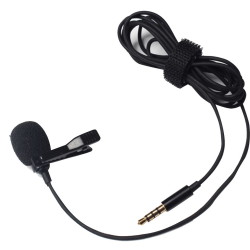 3.5mm Hands Free Clip On Lapel Wired Microphone Collar Clip Mic as the picture