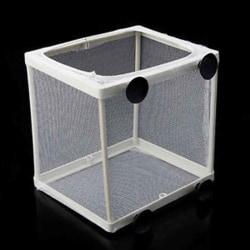 Aquarium Fish Tank Guppy Breeding Fish Gauze Box Isolator 16*14.5*15.5cm