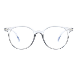 Blue Light Blocking Anti Eyestrain Decorative Glasses Protection NO.5 gray & transparent frames