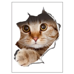 Cat Decorative Stickers Bathroom Wall Sticker as the picture
