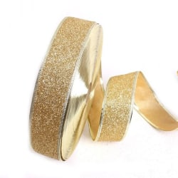 Christmas Decorations Ribbon Gift Wrapping Tree Decor 200*5cm golden