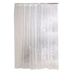Clear Shower Curtain Bathroom Transparent Waterproof with Hooks as the picture