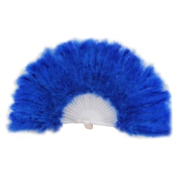 Colorful Feather Fan Foldable Handheld Decoration Retro Show Fan No.8