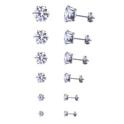 Crystal women earrings set Rhinestones stud ear rings set as the picture