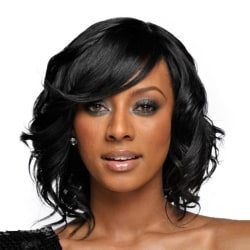 Curly Medium Long Wavy Wig with Bangs Women and Girls Hair Wig as the picture