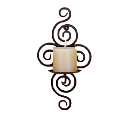Iron Candle Holder Hanging Wall Art Candlestick Decoration as the picture