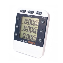 Kitchen Cooking Timer Clock 3 Channels Simultaneous Timing as the picture