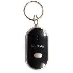 LED Beeping Flashing Light Key Finder Find Lost keychain Keyring black