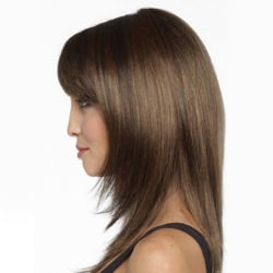 Light Brown Straight Wig Women Elegant Wigs Middle Length Hair as the picture