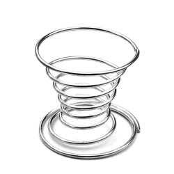 Metal Egg Cup Spiral Kitchen Breakfast Hard Boiled Spring Holder as the picture