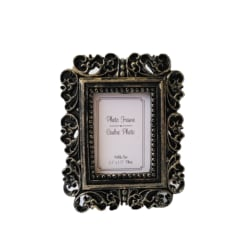 Retro Flower Photo Frame Home Decor Desktop Bronze Picture Frame as the picture