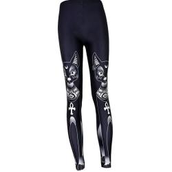 Women's Digital printing Leggings feet pants Skinny slim pants as the picture