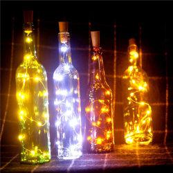 2- Pack LED Ljusslinga för Flaskor Dekorbelysning