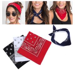 3-pack Bandana Paisley  Röd, svart och vit 53x53 cm