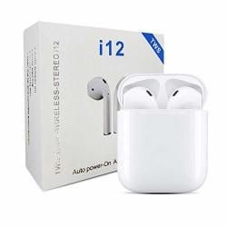 TWS i12 Hörlurar med Bluetooth 5.0 - för iOS & Android Vit vit