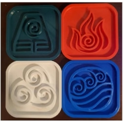 Avatar the Last Airbender, The four Elemental , cookie cutters multifärg S