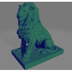 Decorative Sitting Lion mold for casting,  decoration Svart S