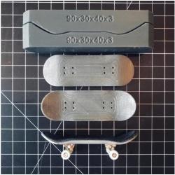 Form: Fingerboard Greppbräda (styrelser, formar, formare, hjulmu Vit one size