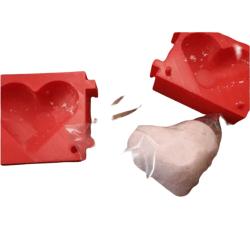 Hjärta form  (mold)  Random Färg