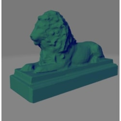 Laying / Guarding Lion Figure / Decoration ornament multifärg S