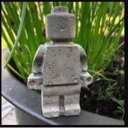 """LEGO Figur """"Mellan""""- Betong"""