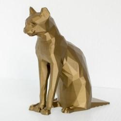 One-Size Polylaktid CAT DOORSTOP Statue Figurine multifärg one size