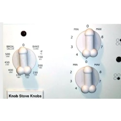 Penis Knob Stove Knobs, ONE. Buy 2 and get one extra free.  Vit S