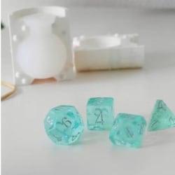 Positive Polyhedral Dice Mold multifärg L