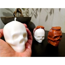Skull Candle Mold for casting  Svart M