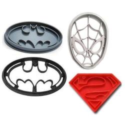 Spiderman/badman/Superman Cookie cutter multifärg one size