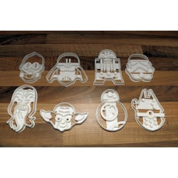 Star Wars Cookie cutters pack (5 random starwars cookie cutters) multifärg S