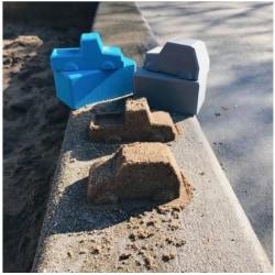 Storlek M, bilform för gjutning av betong, ljus, tvål, bakning Gul M