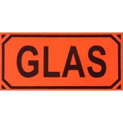 """Varningsettikett , Ettikett """"Glas"""" ,post, embalering"""