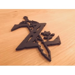 Wonderful 2D Zelda Sign, Link NES (can be used as cookie cutter) multifärg S