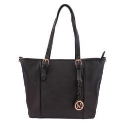 Handväska i läderimitation Svart one size