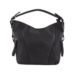 Handväska, svart, skinnimitation Svart one size