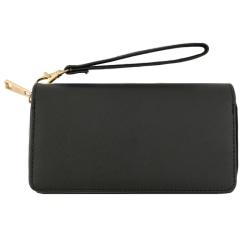 Läcker plånbok i läderimitation Svart one size