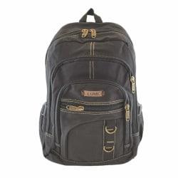 Medelstor ryggsäck, kanvas Svart one size
