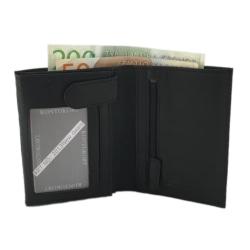Plånbok för herr i skinn Svart one size