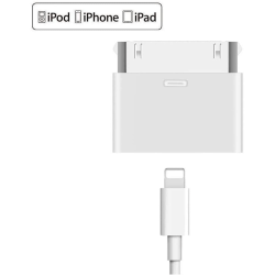 8 - pin till 30 - pin Lightning adapter för iPhone, iPad.. Vit