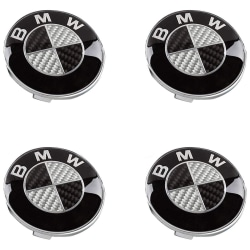 B03- 68MM 4-pack Centrumkåpor BMW Silver one size