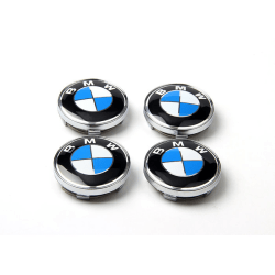 B23 - 60MM 4-pack Centrumkåpor BMW  silver one size
