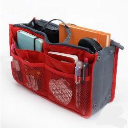 Bag in Bag Handväskinsats Väskinsats Röd Röd one size