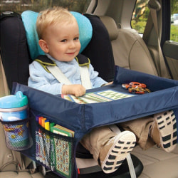 Blå Lekbord till bilbarnstol Blå one size