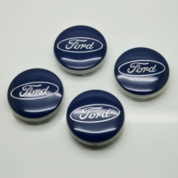 F03 - 54MM 4-pack Centrumkåpor Ford Silver one size